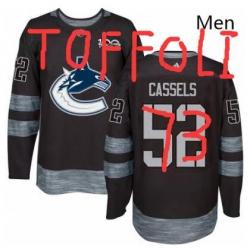 Mens Adidas Vancouver Canucks 73 Tyler TOFFOLI Premier Black 1917 2017 100th Anniversary NHL Jersey