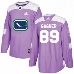 Mens Adidas Vancouver Canucks 89 Sam Gagner Authentic Purple Fights Cancer Practice NHL Jersey