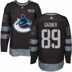 Mens Adidas Vancouver Canucks 89 Sam Gagner Premier Black 1917 2017 100th Anniversary NHL Jersey