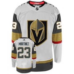 Men Vegas Golden Knights 23 Alec Martinez White Adidas Jersey
