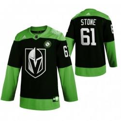 Men Vegas Golden Knights 61 Mark Stone Green 2020 Adidas Jersey