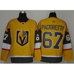 Men Vegas Golden Knights 67 Max Pacioretty Gold 2020 21 Adidas Jersey