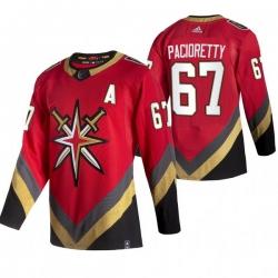 Men Vegas Golden Knights 67 Max Pacioretty Red Adidas 2020 21 Reverse Retro Alternate NHL Jersey