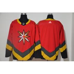 Men Vegas Golden Knights Blank Red 2020 21 Reverse Retro Adidas Jersey