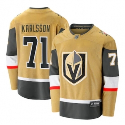 Men Vegas Golden Knights William Karlsson Fanatics Branded Gold 2020 21 Alternate Premier Breakaway Player Jersey