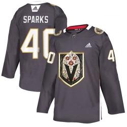 Vegas Golden Knights 40 Garret Sparks Gray Dia De Los Muertos Adidas Jersey