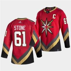Vegas Golden Knights 61 Mark Stone 2021 Reverse Retro Red Jersey