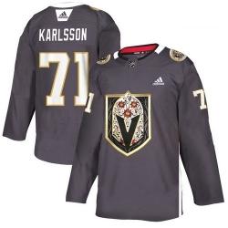 Vegas Golden Knights 71 William Karlsson Gray Dia De Los Muertos Adidas Jersey 589