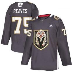 Vegas Golden Knights 75 Ryan Reaves Gray Dia De Los Muertos Adidas Jersey