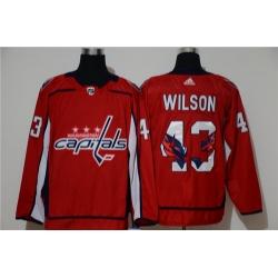 Capitals 43 Tom Wilson Red Adidas Fashion Jersey