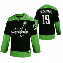 Men Washington Capitals 19 Nicklas Backstrom Green 2020 Adidas Jersey