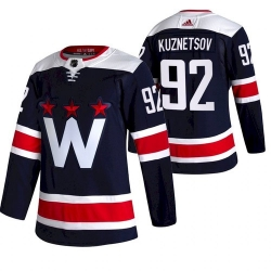 Men Washington Capitals 92 Evgeny Kuznetsov NEW Navy Blue Stitched NHL Jersey