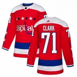 Mens Adidas Washington Capitals 71 Kody Clark Authentic Red Alternate NHL Jersey