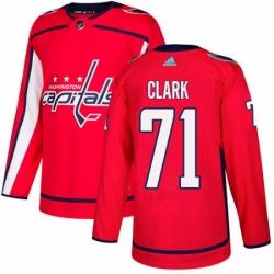 Mens Adidas Washington Capitals 71 Kody Clark Authentic Red Home NHL Jersey