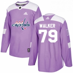 Mens Adidas Washington Capitals 79 Nathan Walker Authentic Purple Fights Cancer Practice NHL Jersey