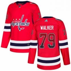 Mens Adidas Washington Capitals 79 Nathan Walker Authentic Red Drift Fashion NHL Jersey