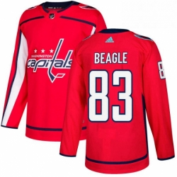 Mens Adidas Washington Capitals 83 Jay Beagle Authentic Red Home NHL Jersey