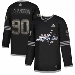 Mens Adidas Washington Capitals 90 Marcus Johansson Black 1 Authentic Classic Stitched NHL Jersey
