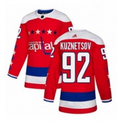 Mens Adidas Washington Capitals 92 Evgeny Kuznetsov Authentic Red Alternate NHL Jersey