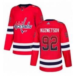 Mens Adidas Washington Capitals 92 Evgeny Kuznetsov Authentic Red Drift Fashion NHL Jersey