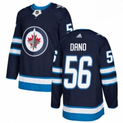 Mens Adidas Winnipeg Jets 56 Marko Dano Authentic Navy Blue Home NHL Jersey