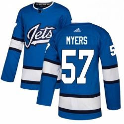 Mens Adidas Winnipeg Jets 57 Tyler Myers Authentic Blue Alternate NHL Jersey