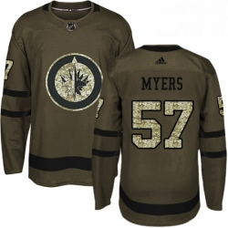 Mens Adidas Winnipeg Jets 57 Tyler Myers Authentic Green Salute to Service NHL Jersey