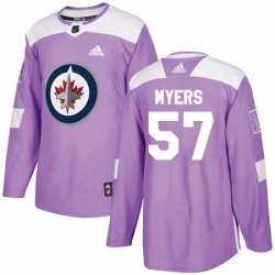 Mens Adidas Winnipeg Jets 57 Tyler Myers Authentic Purple Fights Cancer Practice NHL Jersey
