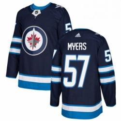 Mens Adidas Winnipeg Jets 57 Tyler Myers Premier Navy Blue Home NHL Jersey