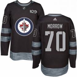 Mens Adidas Winnipeg Jets 70 Joe Morrow Authentic Black 1917 2017 100th Anniversary NHL Jersey