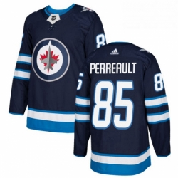 Mens Adidas Winnipeg Jets 85 Mathieu Perreault Authentic Navy Blue Home NHL Jersey