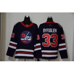 Winnipeg Jets 33 Dustin Byfuglien Navy 2019 Heritage Classic Breakaway Adidas Jersey