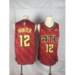 Hawks 12 De 27Andre Hunter Red Nike Swingman Jersey