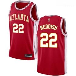 Hawks #22 Cam Reddish Red Basketball Swingman Statement Edition Jersey
