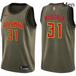 Mens Nike Atlanta Hawks 31 Mike Muscala Swingman Green Salute to Service NBA Jersey