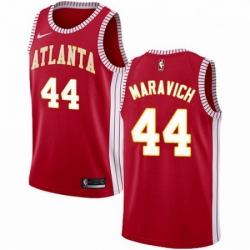 Mens Nike Atlanta Hawks 44 Pete Maravich Authentic Red NBA Jersey Statement Edition