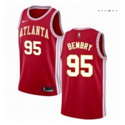 Mens Nike Atlanta Hawks 95 DeAndre Bembry Swingman Red NBA Jersey Statement Edition