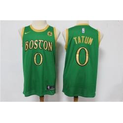 Celtics 0 Jayson Tatum Green 2019 20 City Edition Swingman Jersey