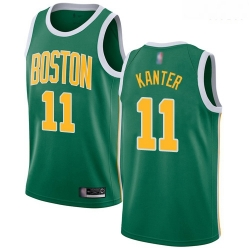 Celtics #11 Enes Kanter Green Basketball Swingman Earned Edition Jersey
