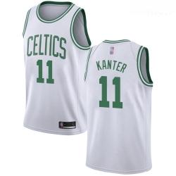 Celtics #11 Enes Kanter White Basketball Swingman Association Edition Jersey