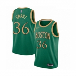 Celtics 36 Marcus Smart Green Basketball Swingman City Edition 2019 20 Jersey