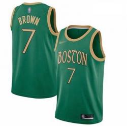 Celtics 7 Jaylen Brown Green Basketball Swingman City Edition 2019 20 Jersey