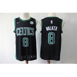 Celtics 8 Kemba Walker Black Nike Swingman Jersey
