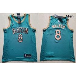 Celtics 8 Kemba Walker Blue 2019 20 City Edition Swingman Jersey