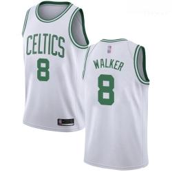 Celtics #8 Kemba Walker White Basketball Swingman Association Edition Jersey
