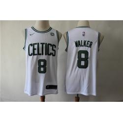 Celtics 8 Kemba Walker White Nike Swingman Jersey