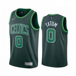 Men Boston Celtics 0 Jayson Tatum Green NBA Swingman 2020 21 Earned Edition Jersey