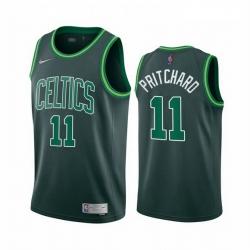 Men Boston Celtics 11 Payton Pritchard Green NBA Swingman 2020 21 Earned Edition Jersey