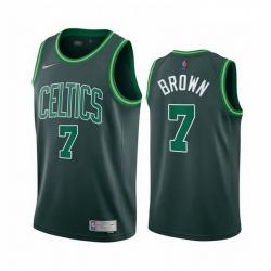 Men Boston Celtics 7 Jaylen Brown Green NBA Swingman 2020 21 Earned Edition Jersey