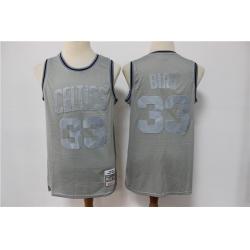 Men Boston Celtics Larry Bird 33 Gray Hardwood Classic Michell&Ness Limited Jersey